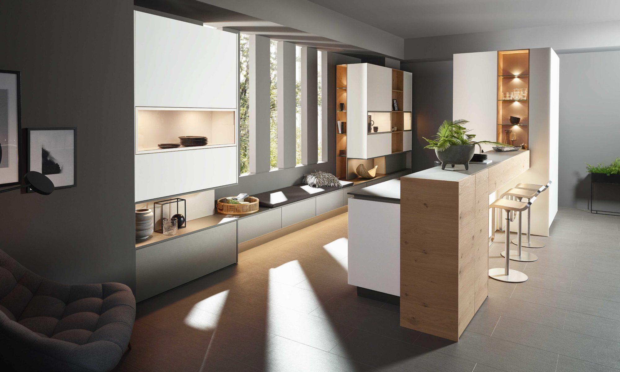 Sachsen Küchen, Adina, Felina, Franka, Holz, Design, grau, modern,