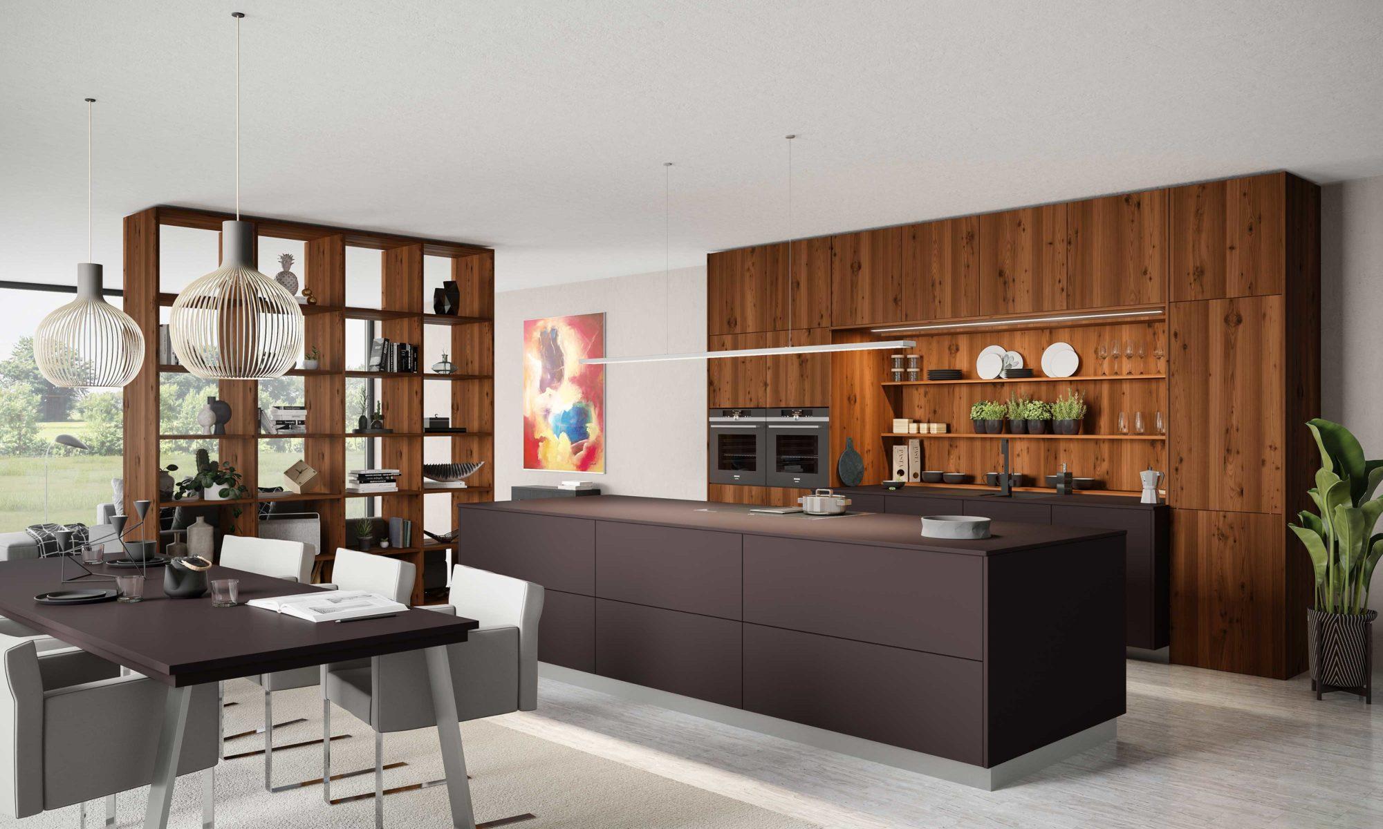 Sachsen Küchen, schwarz, Design, Fiora, Fabia, Holz, Design