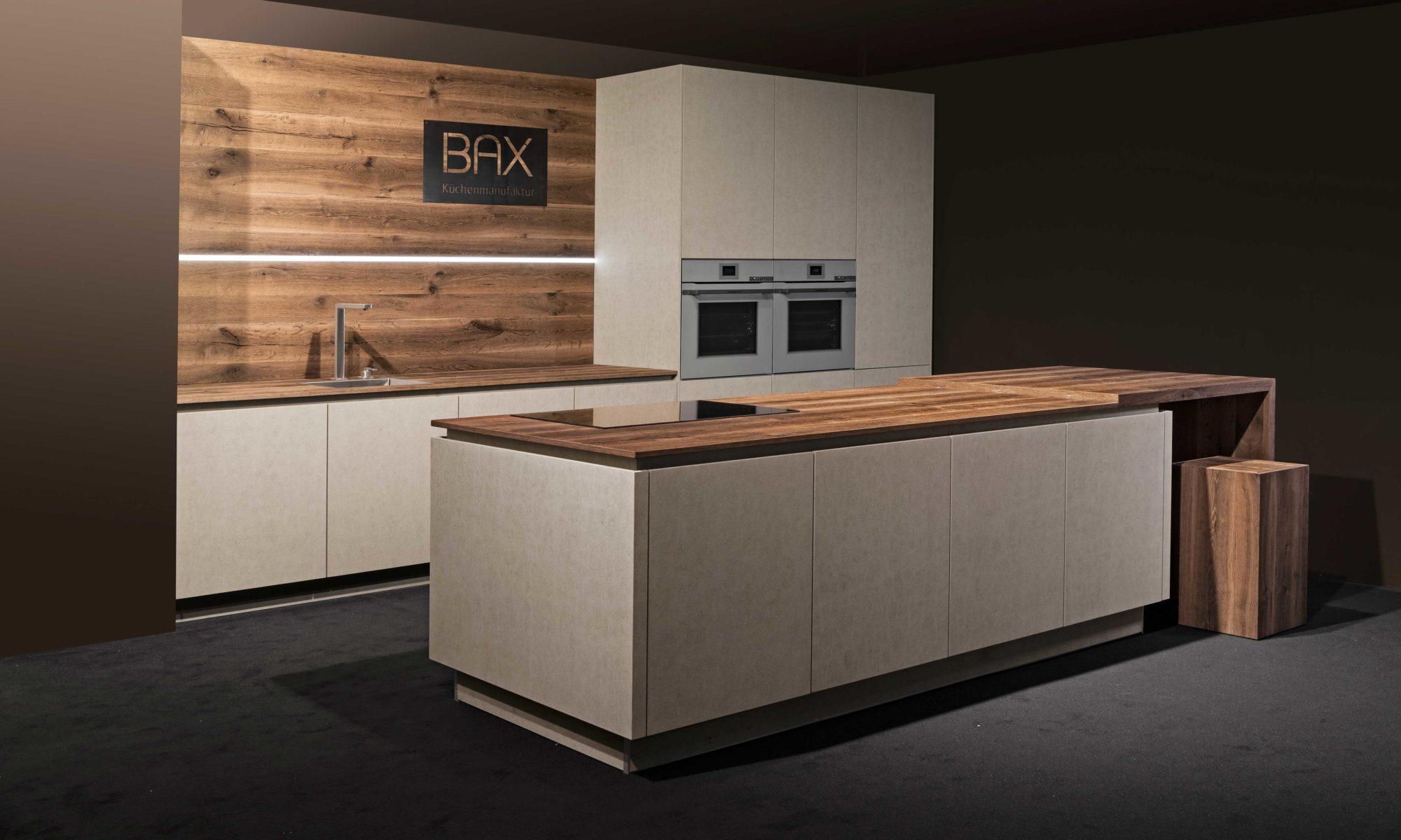BAX, Küche, modern, Design, Betonoptik, Holz