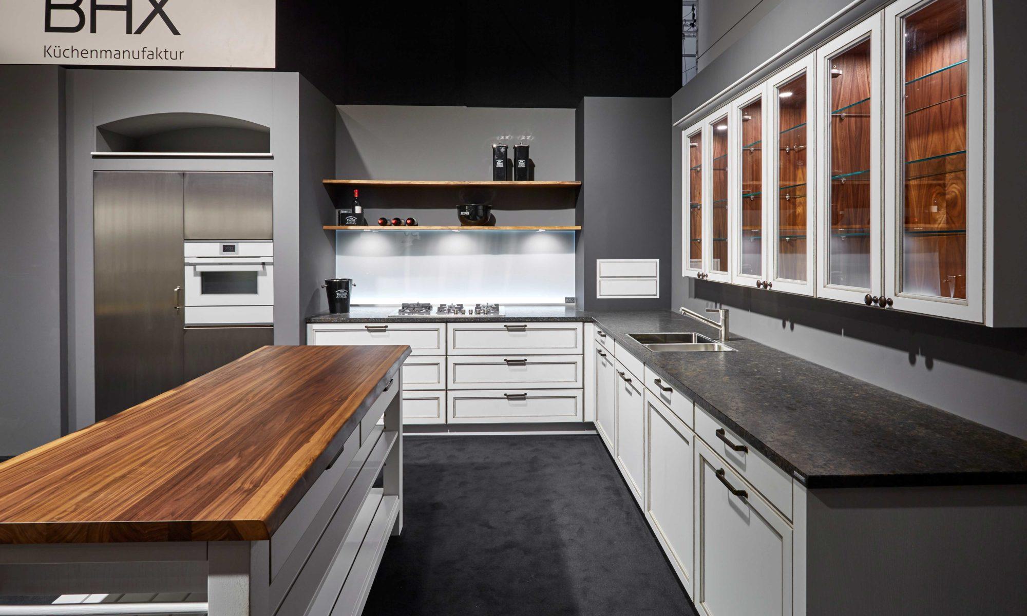 BAX, Küche, traditionell, Design, weiß, Nussbaum