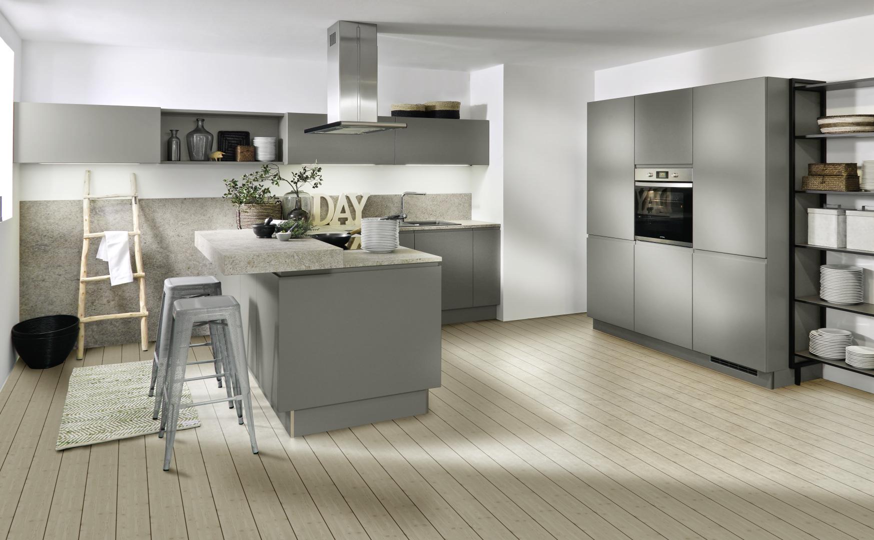 Nolte Küchen, Seattle, Quarzgrau, Softmatt, Granit, Modern, Design