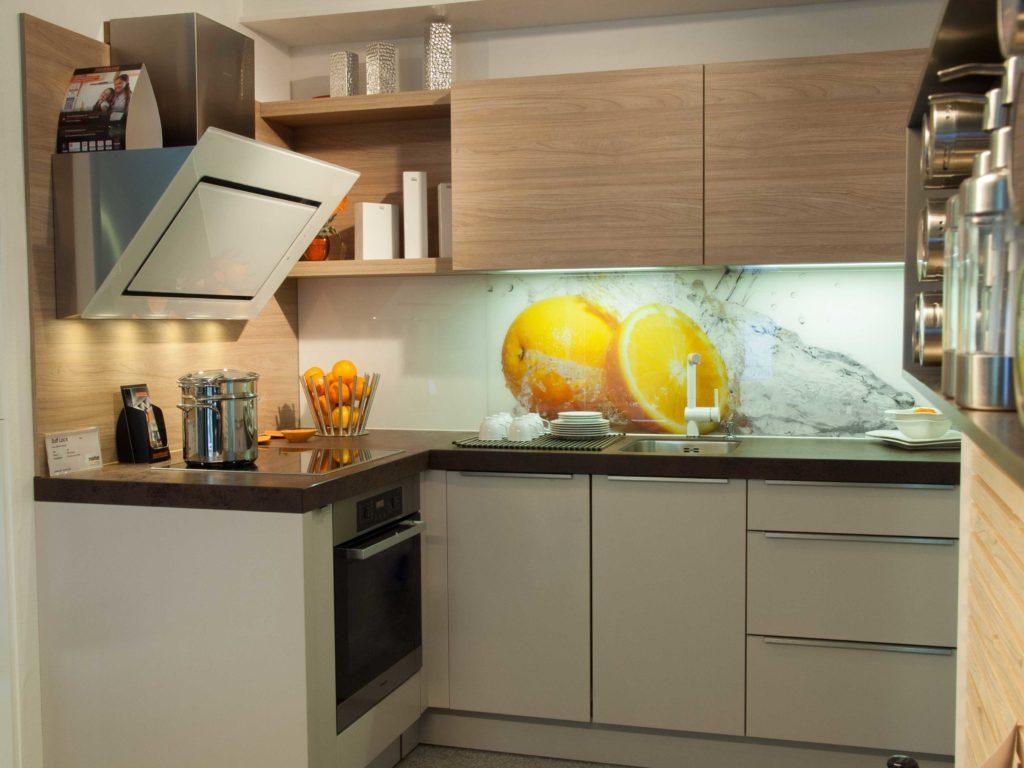 Nolte Küchen Matrix 150, Miele, Keramik, Arbeitsplatte, Geschirspülmaschine, Glasrückwand, Lechner, Silverline
